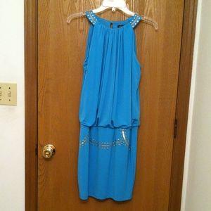 THALIA SODI SMALL WOMENS BLUE DRESS LINED